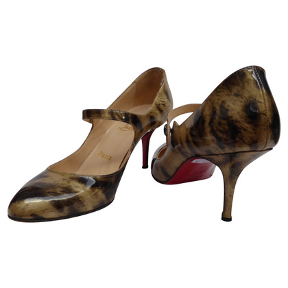Christian Louboutin Patent leather peep-toes