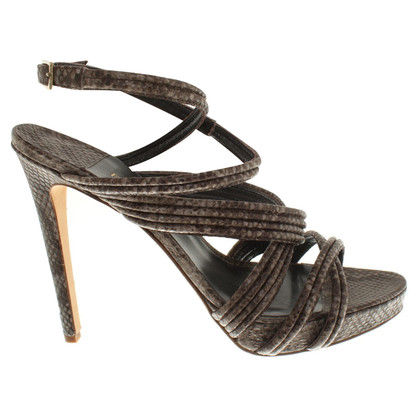 Furla Sandals with reptile embossing