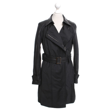 Marc Cain Coat with leather elements
