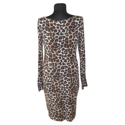 Piu & Piu Abito in jersey con stampa leopardo