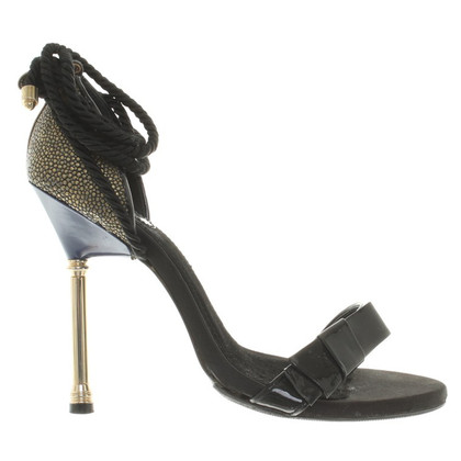 Malo Sandals in black / gold