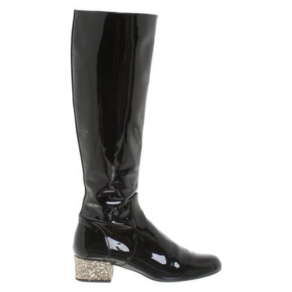 Saint Laurent Laklaarzen met glitters