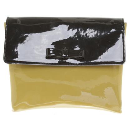 Marni Lackleder-Handtasche in Grün/Schwarz