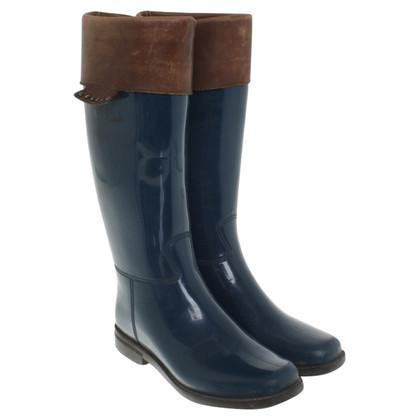 Céline Rubberen laarzen in blauw