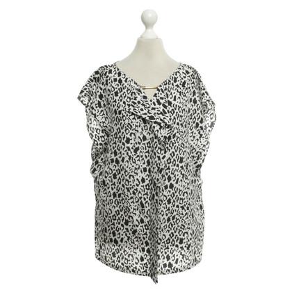 Escada Silk blouse in black / white