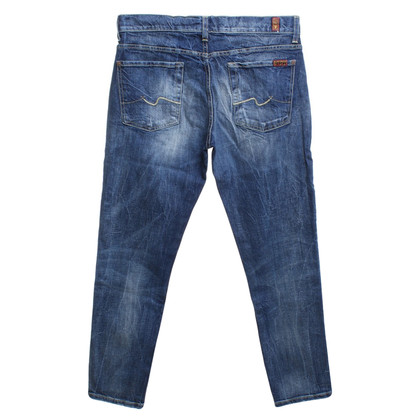 7 For All Mankind Stone Washed Jeans