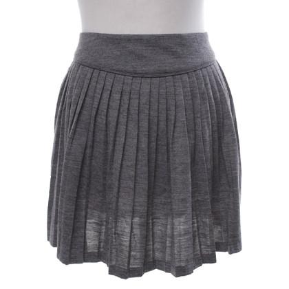 Sandro Pleated skirt in grey-Meliert