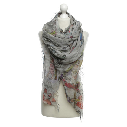 Faliero Sarti Motief print sjaal