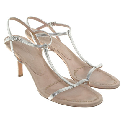 Jil Sander Silver-colored sandals