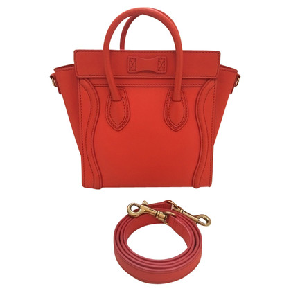 "Céline ""Nano Luggage Bag"" in Orange"