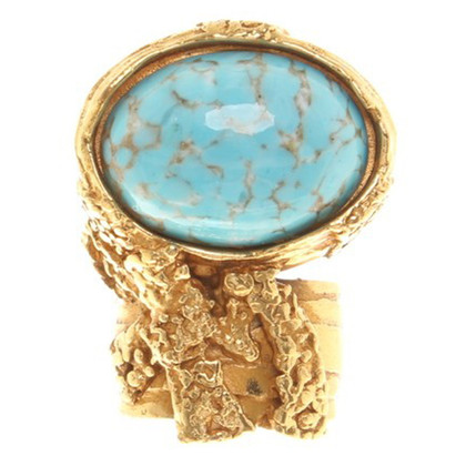 """Yves Saint Laurent Ring """"Arty"""" in Turchese"""