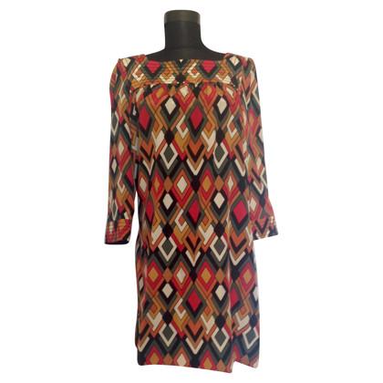 Missoni by Target seta multicolore vestito stampa geometrica