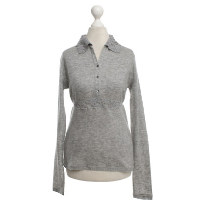Ermanno Scervino Cashmere sweater with lace