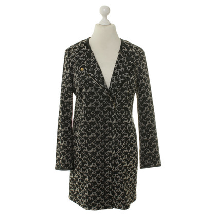 René Lezard Short coat black/beige