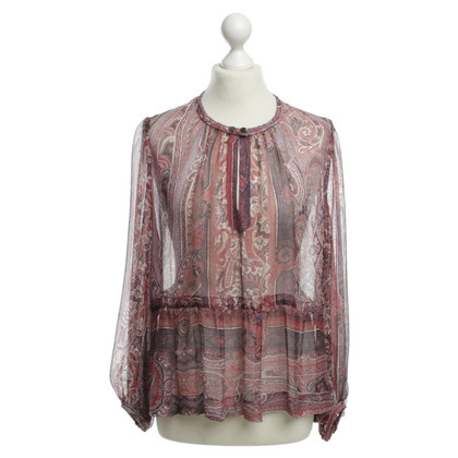 Isabel Marant Silk blouse with colourful patterns