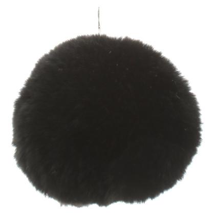 Dolce & Gabbana Key ring with fur pompom