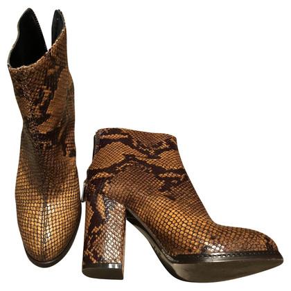 Pinko Python leather boots