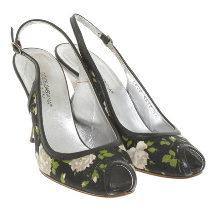 Dolce & Gabbana Peep toes with a floral pattern
