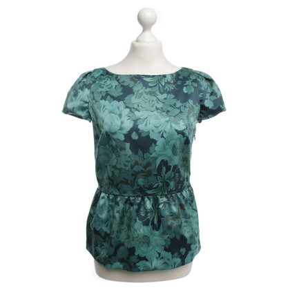 Max & Co Satin blouse with floral print