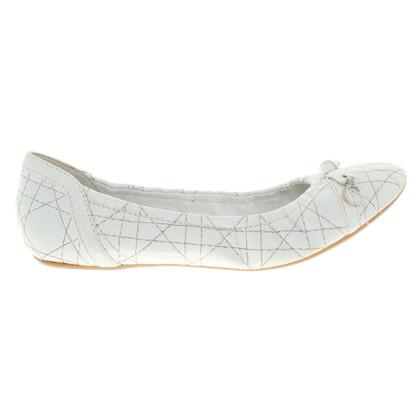 Christian Dior Elastische Ballerinas in Weiß