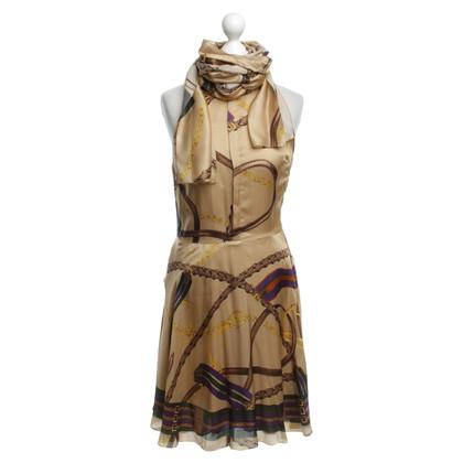 Ralph Lauren Seidenkleid mit Muster