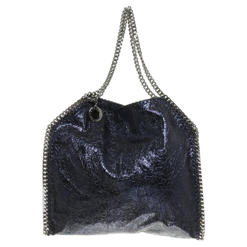 stella mccartney tasche falabella in blau metallic second hand stella mccartney tasche. Black Bedroom Furniture Sets. Home Design Ideas