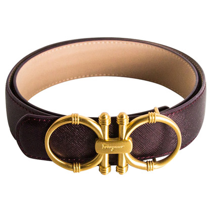 Salvatore Ferragamo Belt with gold buckle