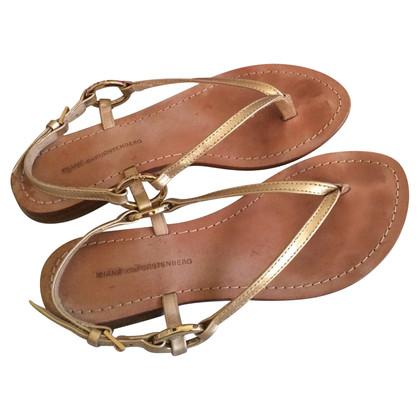 Diane von Furstenberg Leren sandalen