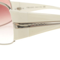 Prada Sonnenbrille in Weiß