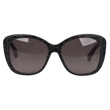 Alexander McQueen zwarte Zonnebril