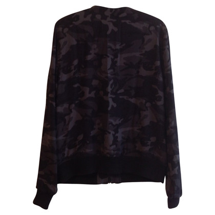 Equipment Seidenblouson im Camouflage-Look