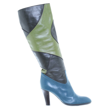 Bally Stiefel im Patchwork-Look