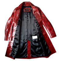 Dsquared2 Coat made of Python leather