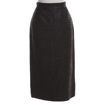 Céline Goat leather skirt