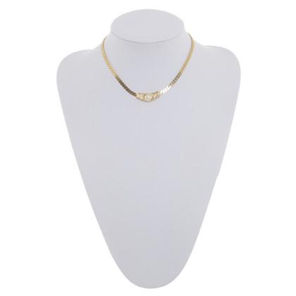 Christian Dior Collana in oro-colorato con pietre semi-preziose