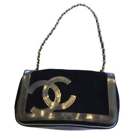 Chanel Schultertasche mit Logo Schwarz Günstiger Preis mfVzPj2KwO