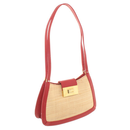 Coccinelle Handbag made of straw