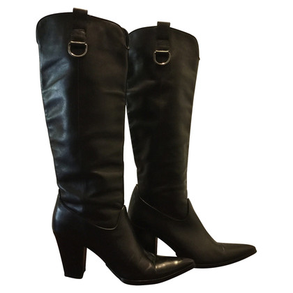 Casadei BUFFALO LEATHER BOOTS
