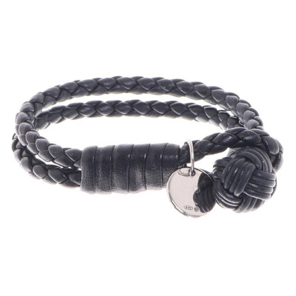 Bottega Veneta Leren armband in zwart