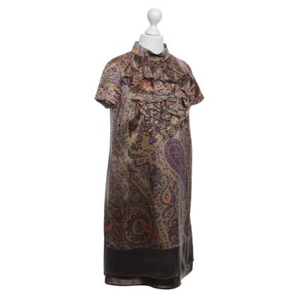 Etro Silk dress with paisley pattern