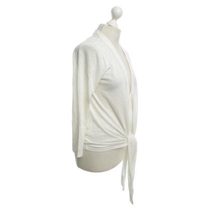 Velvet Cardigan in bianco