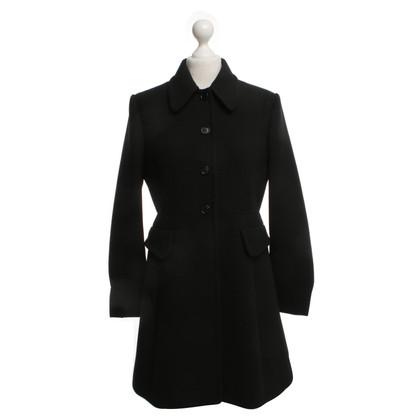 Miu Miu Coat in zwart