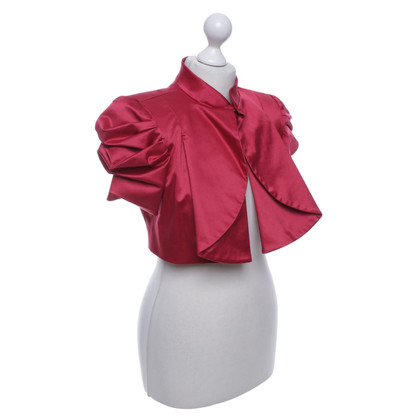 Elisabetta Franchi Short jacket in fuchsia