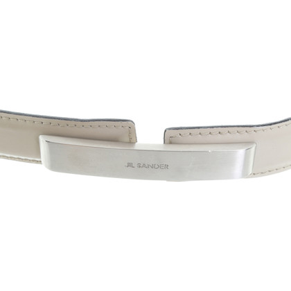 Jil Sander Cream leather belt
