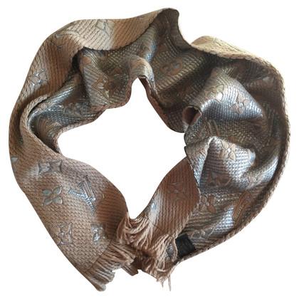 Louis Vuitton Logomania beige scarf