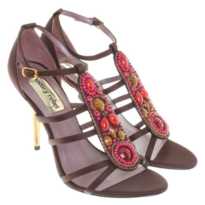 Other Designer Luxury Rebel - Satin Sandals