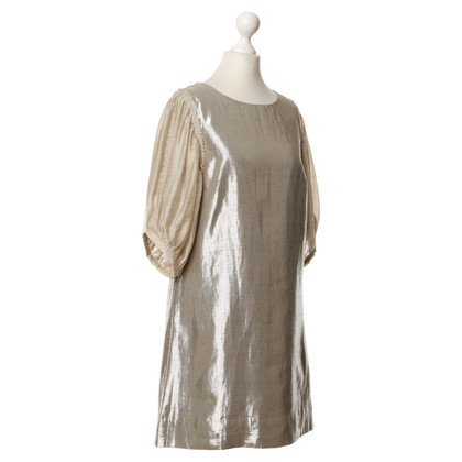 By Malene Birger Metallic-Kleid