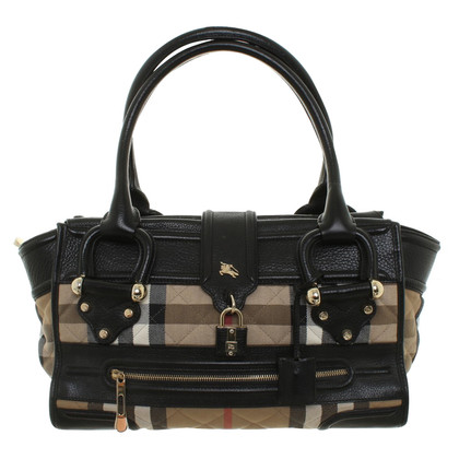 Burberry Handtas in Nova schaakbordpatroon
