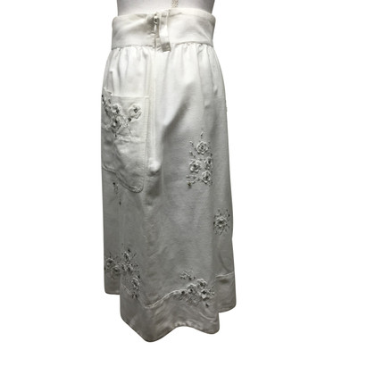 D&G Witte rok met strass