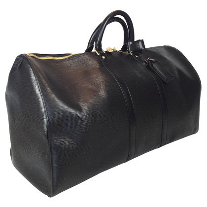 "Louis Vuitton ""Keepall 55 Epi leder"" in zwart"